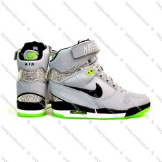 53%-OFF Shoes 2015 Crystal Nike Air Revolution Sky Hi In Grey Amp Lime Green