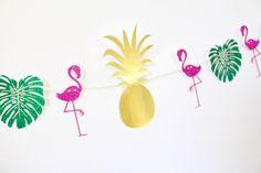 Flamingo Party - Flamingo Birthday - Tropical wedding - Flamingo Banner - Pineapple Banner - Flamingo Pineapple - Flamingo Bachelorette #babyshowerideas4u #birthdayparty  #babyshowerdecorations  #bridalshower  #bridalshowerideas #babyshowergames #bridalshowergame  #bridalshowerfavors  #bridalshowercakes  #babyshowerfavors  #babyshowercakes