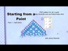Starting Torchon Lace Bookmark from a Point Part 1 Half Stitch with Jenny Brandis Needle Tatting Tutorial, Lacemaking, Bobbin Lace, Video, Bookmarks, Etsy Store, Tutorials, Make It Yourself, Stitch
