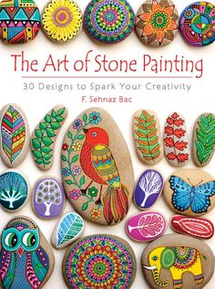 I could see myself getting addicted to Stone/rock painting, but I think it would be something the kids would love. Great quiet craft time activity and also great to give your end results as gifts! The Art of Stone Painting: 30 Designs to Spark Your Creat Pebble Painting, Dot Painting, Pebble Art, Stone Painting, Painting Stencils, Stone Crafts, Rock Crafts, Arts And Crafts, Crafts With Rocks