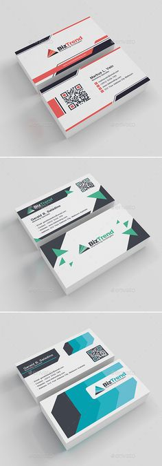 3 In 1 Business Card Template PSD Bundle
