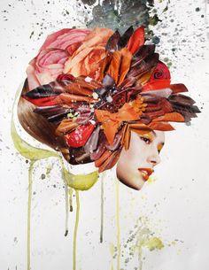 Saatchi Online Artist: Dagrun Iris Sigmundsdottir; Paper, 2013, Assemblage / Collage Overflow