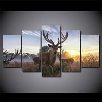 Animal deer Painting Canvas Print room decor print poster picture canvas