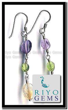 Silver Beads Earring From Riyo Gems www.riyogems.com
