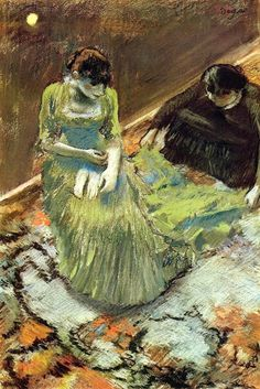 Before the Curtain Call - Edgar Degas, 1892