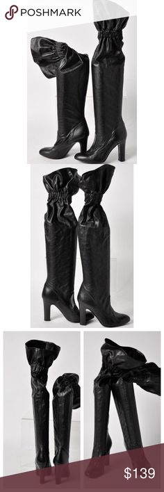 Over-the-Top Haute Jill Stuart Boots To haute to trot black leather Jill Stuart boots.  Over the top glam! These boots were definitely made for walking.  Boots are in excellent condition. Some wear on soles.  See last picture. Size 37z Jill Stuart Shoes Heeled Boots