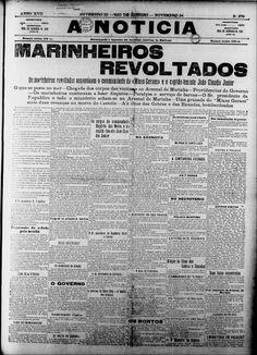 22/11/1910: Eclode no Rio de Janeiro a Revolta da Chibata. http://bit.ly/11dMlKr