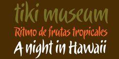 More tropical fonts