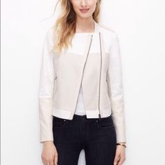 Spotted while shopping on Poshmark: ❤️ SALE!  | NWT Ann Taylor Moto Jacket! #poshmark #fashion #shopping #style #Ann Taylor #Jackets & Blazers