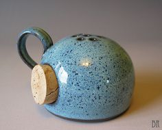 Barbarah Robertson Pottery -- Cheese Shaker - Kosher Salt - Coarse Salt - Parmesan