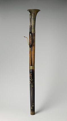 Contrabassoon in C, Johann Tobias Uhlmann (1776–1838), Maple, brass, Austrian 1825-33
