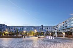 Blooming City Nieuwegein by Bureau B+B « Landscape Architecture Platform Landscape Architecture, Landscape Design, Public Realm, Contemporary Landscape, Urban Planning, Shopping Center, B & B, Urban Design, Garden Landscaping