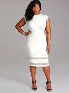 curvy gal white dress plus size