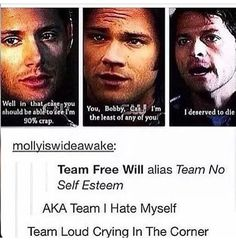 I think that's part of the reason I love this show. I connect with them. I feel like I'm one of them. I love deeply except when it comes to myself. << I think most teenagers do Supernatural Tv Show, Supernatural Quotes, Do Homework, Super Natural, Castiel, My Guy, Superwholock, Sam Winchester, Nerdy