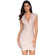 Amazon.com  Meilun Women s Bandage Dress Square Neck Bodycon Party Dress   Clothing 13c1cab40