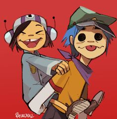 I'd like to thank Gorillaz for two things: providing me new music for work and also for getting me out of my art block. Gorillaz Band, Gorillaz Fan Art, 2d And Noodle, Monkeys Band, Animes Wallpapers, Cool Bands, Cartoon Art, Cute Art, Art Inspo