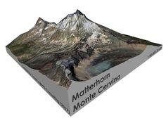 """Matterhorn / Monte Cervino Map: 6"""" (15.2 CM) 3d printed"""