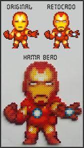 Ironman perler bead hama bead