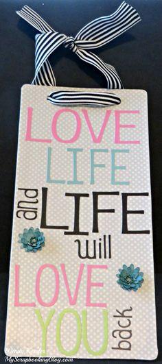 Love Life Wall Hanging by Wendy Kessler