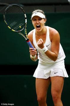 #Bouchard into her 3rd consecutive Grand Slam quarterfinal at Wimbledon 2014.