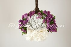 Wonderful Props - Lilac Hanging Nest - Digital Backdrop - Photo Prop for Newborn Photography