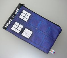 Doctor Who Tardis  Zipper bag / Pencil Case / Make Up Bag / Gadget Pouch/Sack/