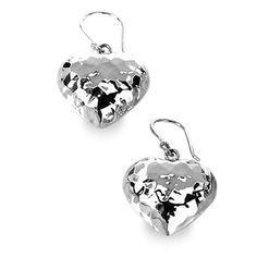Tianguis Jackson Silver Hammered Puffball Heart Earrings http://www.qualitysilver.co.uk/Jewellery/Tianguis-Jackson-Silver-Drop-Earrings.html