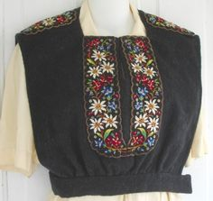 Past Fashion Trend – 1940s Alpine vest | The Vintage Traveler http://thevintagetraveler.wordpress.com/2010/03/23/past-fashion-trend-1940s-alpine-fashions/#