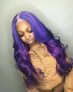 """""""ISSA celebration every time we Link up """" Stylist work better together ☔️☂️ Hair & color Frontal sew in Brown Ombre Hair, Ombre Hair Color, Hair Colors, Purple Hair Black Girl, Weave Hair Color, Black Girls, Light Purple Hair, Purple Weave, Purple Wig"""