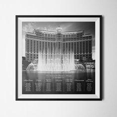 Las Vegas Theme  Wedding Table Plan & Table by PorkchopCreative