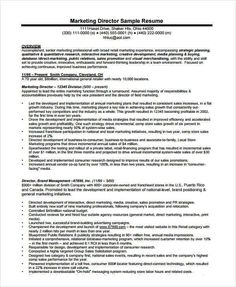 Sample Marketing Director Resume , Marketing Resume Samples For Successful  Job Hunters , It Is An