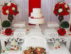 Aluguel decoração casamento noivado vermelho e branco. Decorações de primeira classe, locação de móveis provençais e serviços realizados com produtos da ...
