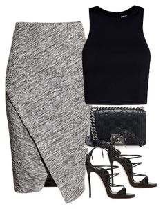 """""""Untitled #2905"""" by charline-cote ❤ liked on Polyvore featuring H&M, T By Alexander Wang, Chanel and Dsquared2"""