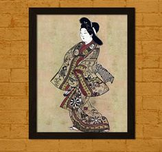 Japanese Art Poster Ukiyo-e Prints Old Design by VoyagesVoyages