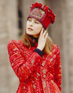 """Suit """"Pauline"""" of the """"Revival"""" collection. Funky Hats, Cool Hats, Boho Gypsy, Hippie Chic, Boho Chic, Glamour, Moda Popular, Quilted Clothes, Fall Outfits"""