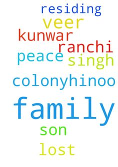 I would like to request for family prayer of my family - I would like to request for family prayer of my family for peace as we lost our only son please. I am residing at veer kunwar Singh colony,Hinoo Ranchi. Posted at: https://prayerrequest.com/t/IvG #pray #prayer #request #prayerrequest
