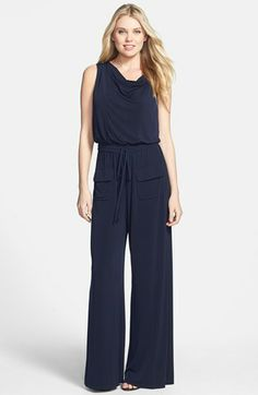 Vince Camuto Cowl Neck Matte Jersey Jumpsuit available at #Nordstrom