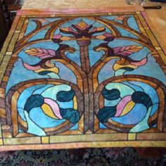 Stained Glass Fabric Wall Art