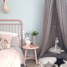 Another stunning copper and pink girls room... gorgeous copper bed from @incy_interiors and blush side table from @monmelbourne both instore now RG @aboutthehousenz and @leoandbella