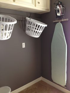 Magenta And Lime Hang Laundry Baskets On Hooks Home