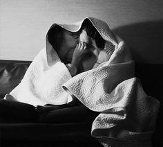 Couple kissing under a blanket throw blanket n dryer n then makeout under blanket