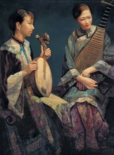 ♪ The Musical Arts ♪ music musician paintings - Chen Yifei
