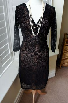 BNWT Matalan Soon Red Sparkle Lace 3//4 Sleeve Occasion Dress Sz 10 14 16 BF//4