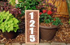 Address Sign Mosaic House Numbers by GreenStreetMosaics on Etsy, $70.00 @Brandon Green Street Mosaics
