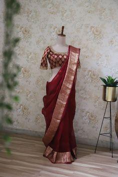 Silk saree always Grace Silk Saree Kanchipuram, Silk Sarees, Saris, High Low Gown, Bridal Silk Saree, Sari Dress, Elegant Saree, Saree Styles, Saree Collection