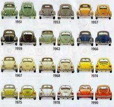 It's like the periodic table of VW Beetles.