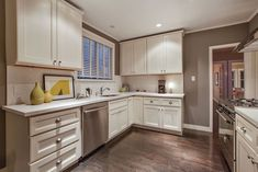 Traditional Kitchen With Inset Cabinets, Hickory Hardware P3104 Deco Cup  Pull, Simple Granite Counters