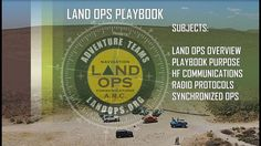 Now through our forum and HF radio anyone can participate in Land Ops from anywhere.