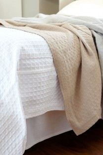 The textured & soft cotton Lattice Weave Bed Cover is a luxurious bedroom addition. Woven at the Mungo mill in South Africa. Cotton Bedding, Linen Bedding, Master Bedroom, Bedroom Decor, Bedroom Ideas, Lace Weave, Bed Covers, Soft Furnishings, Bed Pillows