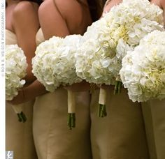 hydrangea flower bouquet for bridesmaids